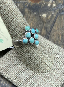 Barse Tesserae Turquoise Ring-Sterling Silver-8-NWT