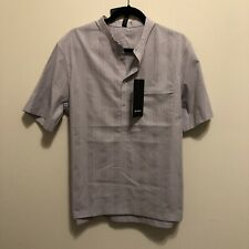 NWT Men's Lululemon Large Down To The Wire Henley *Grid Short Sleeve Shirt ICDI