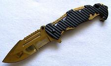 Speedster Rettungsmesser goldfarben Flaschenöffner Scheibenhammer Gurtschneider