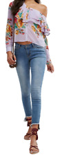 One Shoulder Blouse in Lilac Floral Size UK 8 rrp £32 DH190 GG 07