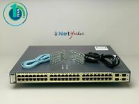 Cisco WS-C3750G-48PS-E • 48 Port PoE Gigabit 3750G Switch ■ 1 YEAR WARRANTY ■