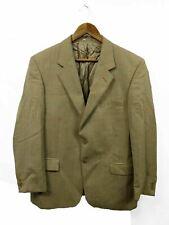 """Mens Brook Taverner Beige Wool Check Suit Jacket Blazer Size 42"""" Short #4R3"""