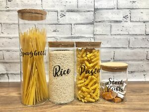 Personalised home storage- Airtight cork jar containers