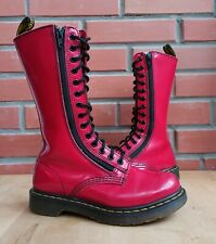 Dr Martens Women 5 US 3 UK High Boots Patent Red 14 eye 1914 Double zip 9733