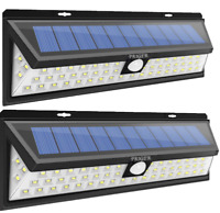 Solar Lights Outdoor Motion Sensor Security Deck RV Yard Fence Patio Light 2Pack