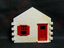Plasticville Cape Cod Side Piece White Red Window and Door O-S Scale