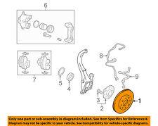 HYUNDAI OEM 99-01 Sonata Front Brake-Disc Rotor 5171238100
