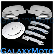 07-14 GMC Yukon+XL Chrome Mirror W/light+4 Door Handle no PSG Keyhole+GAS Cover