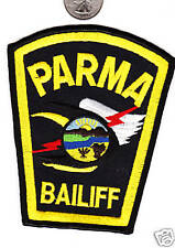 Parma Bailiff Patch Police Court Officer State Ohio Crest Cloth Shield Badge OH