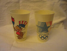 1984 Los Angeles Olympic Games Sam the Eagle Torch Plastic 16oz Tumblers Two