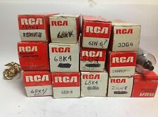 LOT OF 13 VINTAGE RCA ELECTRON TUBES