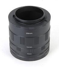 Macro Lens Extension 3 Ring Tube For Pentax K PK Mount K10D K20D K7 K5 KX K200D