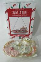 Christmas Tea Vintage House of Lloyd Resin Hand Painted Ornament New Old Stock