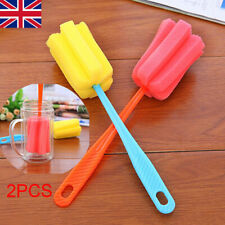 2x Soft Sponge Brush Bottle Cup Wine Glass Washing Cleaning Kitchen Cleaner Tool