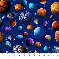 ACROSS THE UNIVERSE PLANETS SPACE STARS FABRIC