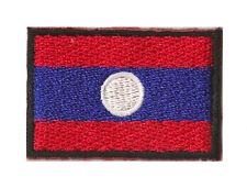 Petit badge écusson patche patch thermocollant Laos 45x30 mm