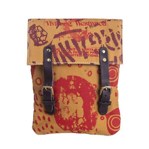 VIVIENNE WESTWOOD ANGLOMANIA Recycled Canvas Clutch Bag HANDMADE Printed Panel
