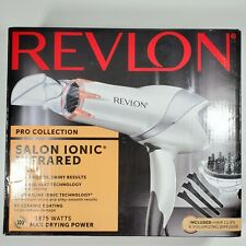 Revlon Hair Dryer Pro 1875W Infrared Heat Max Drying Power with Clips & Diffuser