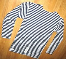 TELNYASHKA RUSSIAN ARMY NAVY STRIPED DARK BLUE LONG SLEEVE WINTER SHIRT by BTK