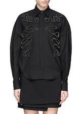 STELLA McCARTNEY $1,575 squiggle zip oversized zipper honeycomb shirt 40 / 4 New