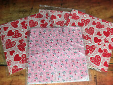 Unique High Quality Black Heart Gift Wrapping Paper-Red Background A3-GP245
