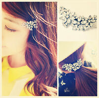 Wedding Bridal Flower Crystal Rhinestone Headband Hair Clip Comb Pin Diamante