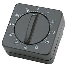 Manual Simple Timer Wind Turn Alarm Bell BLACK Hair Salon Home Easy Use Classic