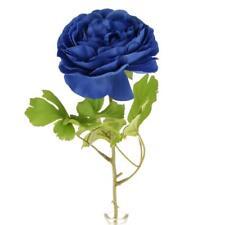 Artificial Faux Silk Peony Big Flower Head Wedding Party Decor Dark Blue