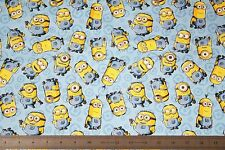 MINION BLUE FABRIC MADE IN JAPAN universal studio cartoon by the yard