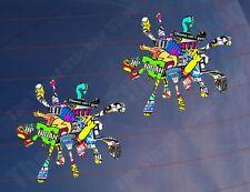2x SPLAT STICKER BOMB Colour Funny Car/Bike/Van/Window/Bumper Printed Stickers