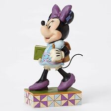 New Jim Shore Disney Figurine Minnie Mouse Back To School Quilted Statue Student