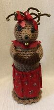 Handmade Crochet Lady Reindeer Christmas Decoration Bells
