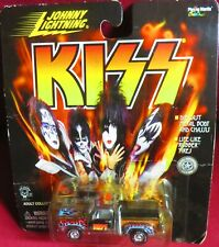 """1/64 JOHNNY LIGHTNING, """"KISS"""" CHROME PICK-UP WITH BLUEFLAMES"""