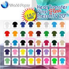 "Heat Transfer Vinyl (HTV) for T-Shirts 20"" by Yard Roll(s) BEST ON EBAY USA #1"
