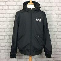 EA7 EMPORIO ARMANI MENS UK XL BLACK TRAIN CORE ID HOODED JACKET RRP £174.99