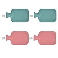 4 Stück Wärmflasche rot | Wärmeflasche Gummi 1 Liter | Bettflasche Wärmflaschen