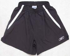 "Reebok Black Athletic Shorts Women's Small 24"" x 5"" Polyester Drawstring White"