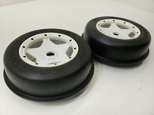 HPI SAND BUSTER-T RIB TIRES (FRONT) 190X60 SET OF (2)  W WHEELS AND BEADLOCKS
