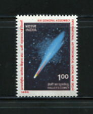 India 1985  #1101   space comet  Halley  1v.  MNH   F546