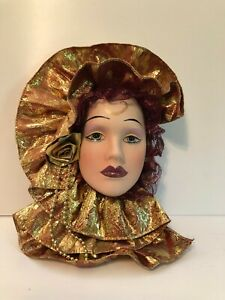 Porcelain Decorative Woman's Face Wall Mask
