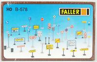FALLER B-578 Spur H0 Verkehrszeichen, 133 Teile, Bausatz, OVP, in Folie!