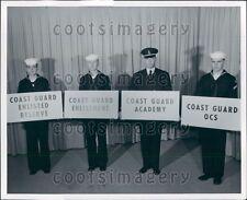 1956 US Coast Guard Recruiters 1950s Press Photo