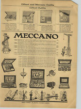 1921 PAPER AD Gilbert Toy Sound Experiments Weather Bureau Outfit Kit Meccano