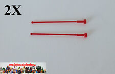 2X Lego® 2569 Antenne, Antenna 1X1X8 Rot Red 256921