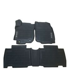 Fits Toyota RAV4 Set of 3 Piece Front & Rear All Weather Black Rubber Floor Mats