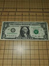 2009 $1 Fancy Serial Number One Dollar Note 6 Ones D12711111A Crazy Lucky Bill