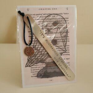 HANDMADE BOOKMARK HAND STAMPED FRIEND HARRY POTTER SPELL WINGARDIUM LEVIOSA GIFT