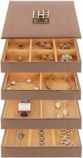 Stock Your Home Stacking Jewelry Trays S/4 with Lid - Bronze