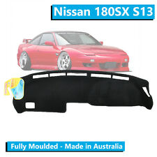TO FIT: Nissan 180SX S13 (1990-1997) - Aftermarket Dash Mat - Black - Moulded