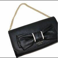 Kate Spade NY NWT Milou Rosewood Place Black Bow Chain Purse Wallet Retail $199